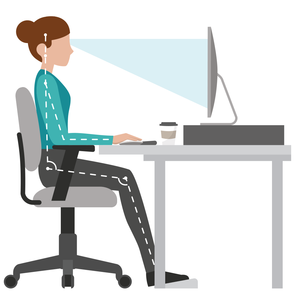 ewi works providing ergonomic assessments and solutions workstation ergonomics diagrams and checklist Ergonomic Workstation Setup