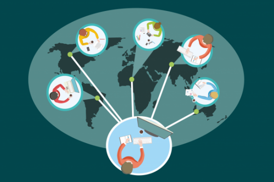 Remote ergonomic assessments over world map