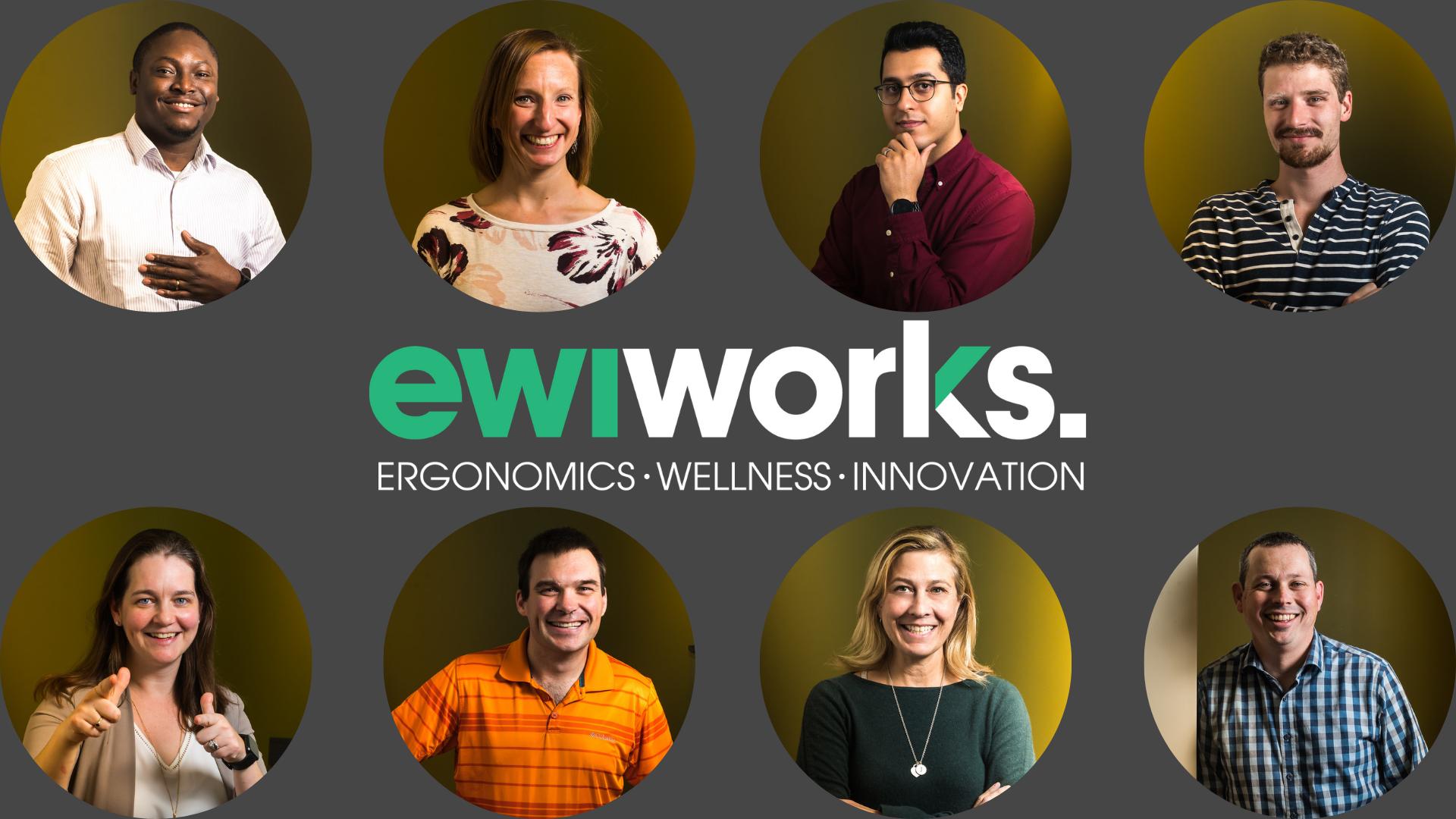 EWI Works Logo and Staff Headshots